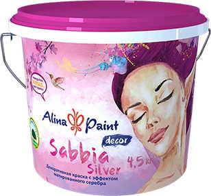 Декоративная краска ALINA PAINT Sabbia Silver