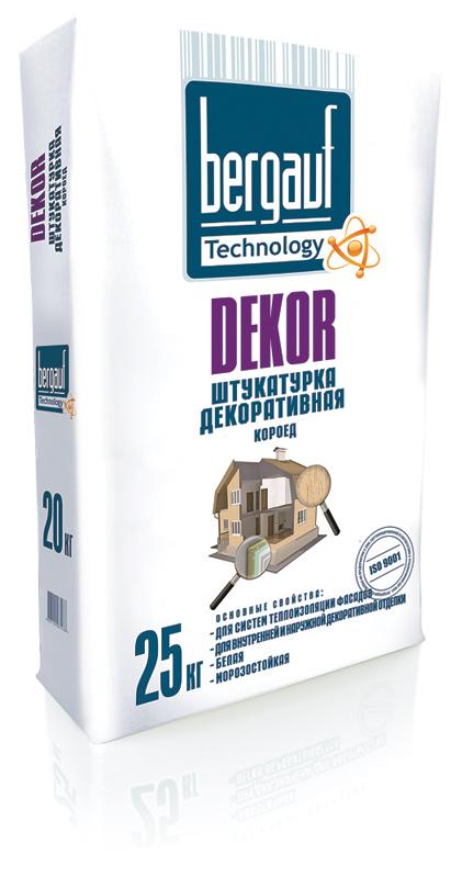 Декоративная штукатурка Bergauf DEKOR типа короед 2,5мм 25кг