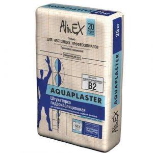 Гидроизоляционная штукатурка AlinEX AQUAPLASTER, 25кг