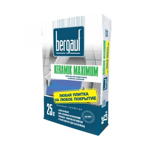 Клей Bergauf Keramik Maximum для всех видов плитки на сложные основания 25кг