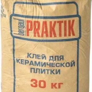 Клей Bergauf Praktik для керамической плитки, 30кг