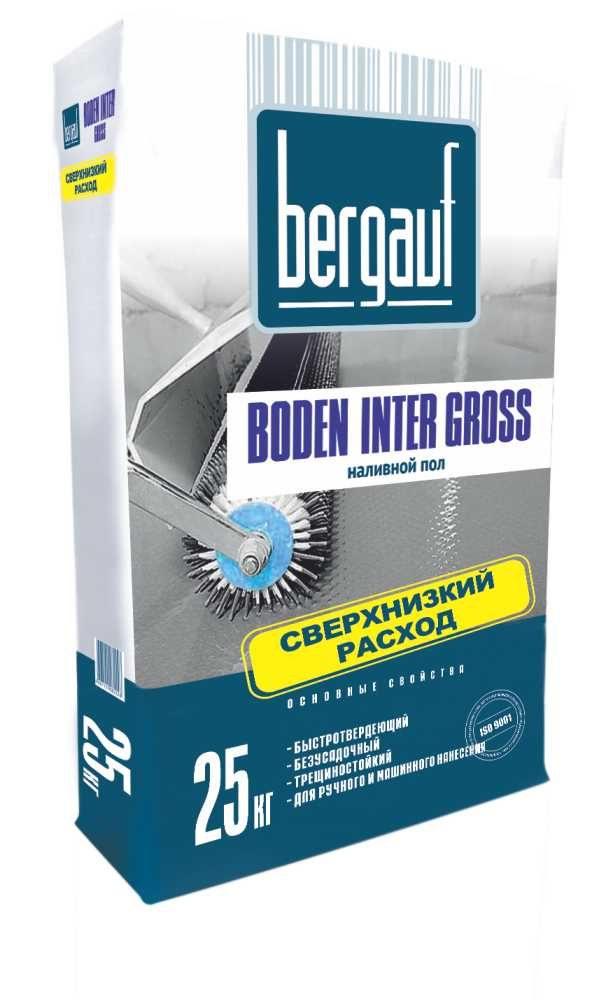 Наливной пол Bergauf Boden Inter Gross 25 кг
