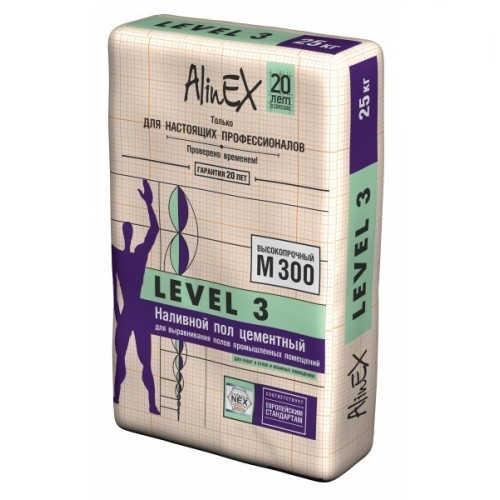 Наливной пол для промышленных помещений AlinEX LEVEL 3, 25кг