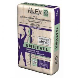 Наливной пол на комплексном связующем AlinEX UNILEVEL, 25 кг