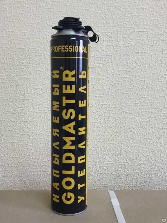 Напыляемый полиуретановый утеплитель GoldMaster, 890 мл