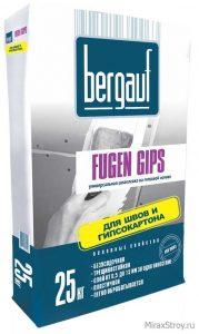 Шпаклёвка Bergauf Fugen Gips универсальная на гипсовой основе 25кг