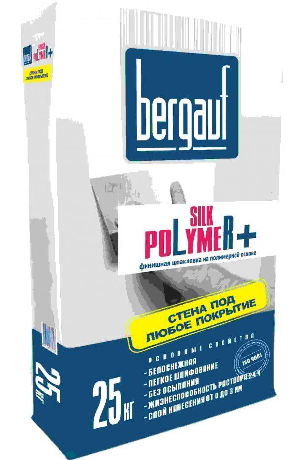 Шпатлёвка Bergauf Silk Polymer белая полимерная 25кг