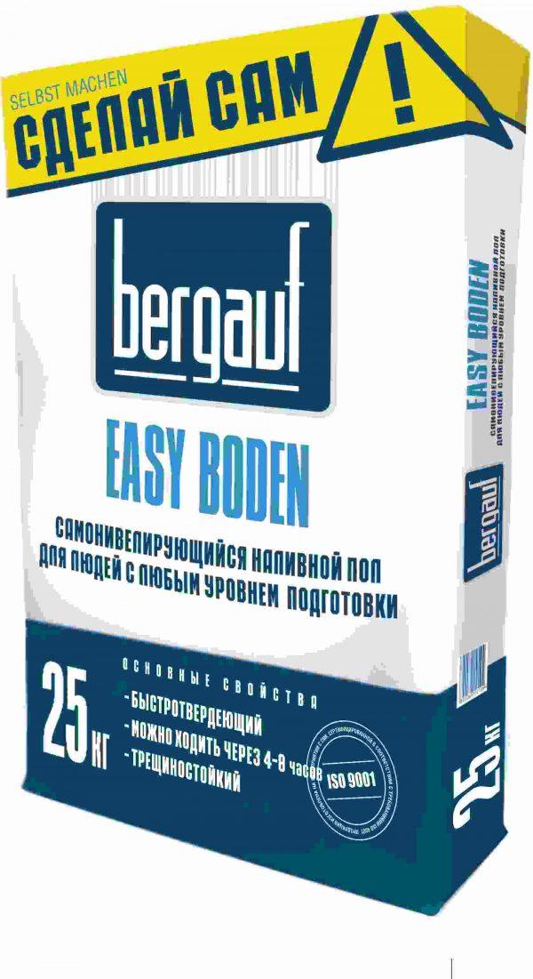 Самонивилирующийся наливной пол Bergauf Easy Boden 25 кг