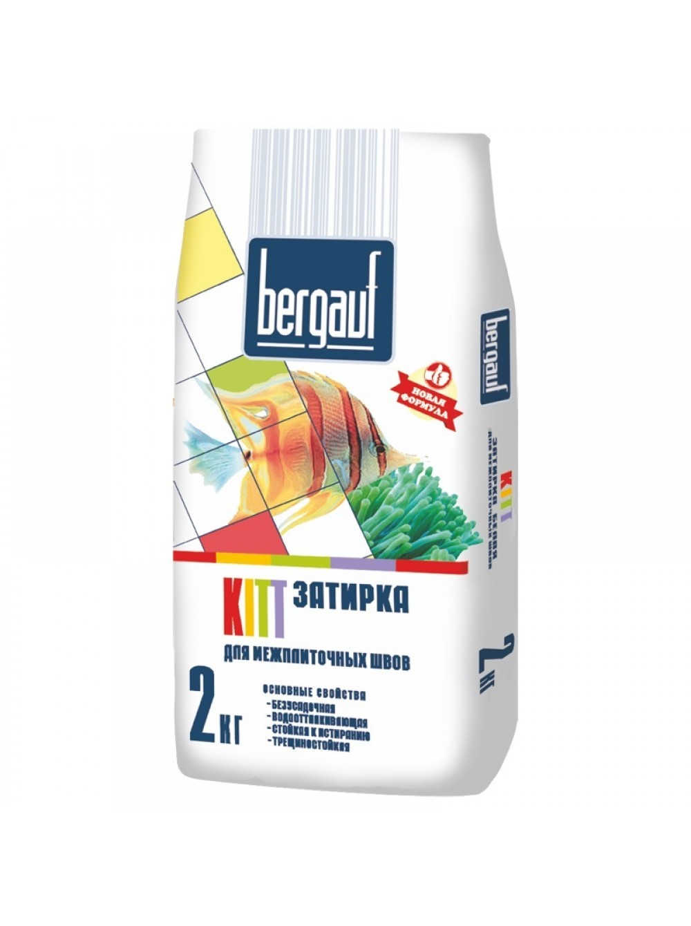 Затирка Bergauf Kitt 2 кг для межплиточных швов, цвет по выбору