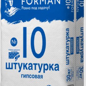 Штукатурка Уральск доставка FORMAN 10